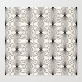 Geometric Orb Pattern - Black Canvas Print