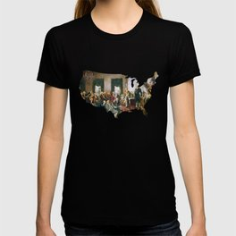 USA MAP The Signing of the Constitution of the United States T-shirt