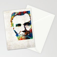 Abraham Lincoln Art - Colorful Abe - By Sharon Cummings Stationery Cards