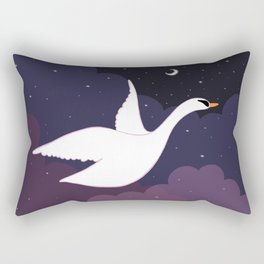 Follow the Pretty Bird Across the Sky Rectangular Pillow