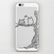 Three owls in a tree iPhone & iPod Skin