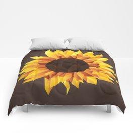 Polygonal Sunflower Comforters