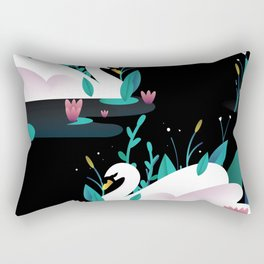 Swan print Rectangular Pillow