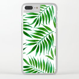 FOLIAGE WATERCOLOR Clear iPhone Case