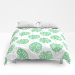 Palm Leaf indoor house plant hipster cheese plant palm leaf tropical vibes Comforters