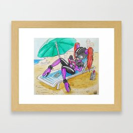 Latex Beach Framed Art Print