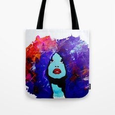 afro color Tote Bag