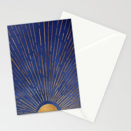 Twilight / Blue and Metallic Gold Palette Stationery Cards