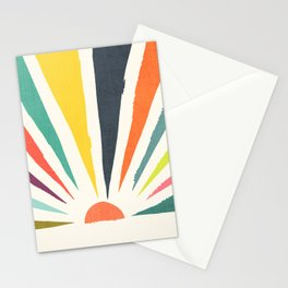 Rainbow ray Stationery Cards