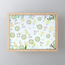 Fresh fruits in fresh background Framed Mini Art Print