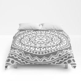 Mandala #3 (gray) Comforters