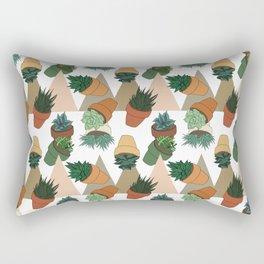 Tumbling Succulents Rectangular Pillow