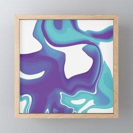 Liquid Marble Purple Shades 010 Framed Mini Art Print