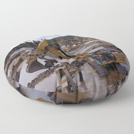 River Work Floor Pillow