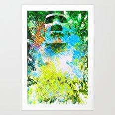 moai in green Art Print