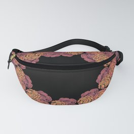 Rosey Rose Wreath, Pink Fanny Pack