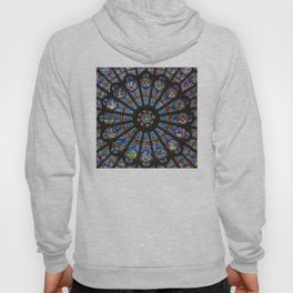 STAINED GLASS Notre Dame Cathedral Paris France Hoody