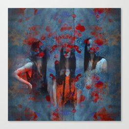 Abstract three women Canvas Print