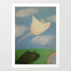 Stingray Art Print