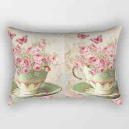 Tea Flowers #4 Rectangular Pillow