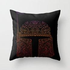 Bobba Neon Fett Throw Pillow
