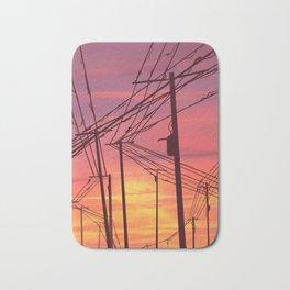 sunset & powerlines Bath Mat