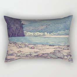 At Prayer at Dayai Shore Rectangular Pillow