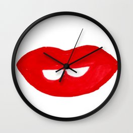 Red Lipstick for Friday Wall Clock