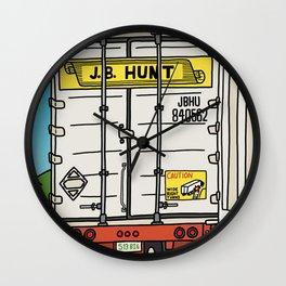 J.B. Hunt Wall Clock