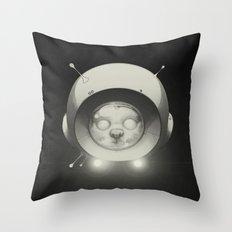 Space Kitty Throw Pillow