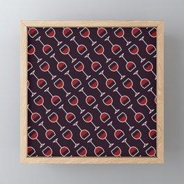 Wine Pattern - Icon Prints: Drinks Series Framed Mini Art Print