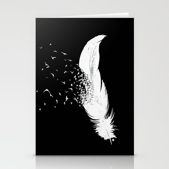 Birds of a Feather (Black) Stationery Cards