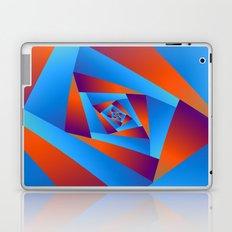 Orange and Blue Spiral Laptop & iPad Skin
