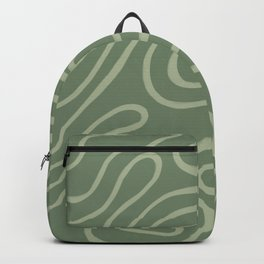 Topographic Map / Grayish Green Backpack
