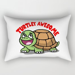 Turtley Awesome Rectangular Pillow