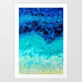 INVITE TO BLUE Art Print