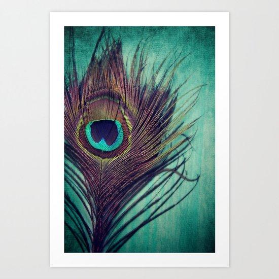 Peacock Feather Art Print