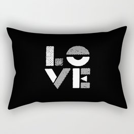 Love black and white contemporary minimalist typography design home wall decor bedroom Rectangular Pillow