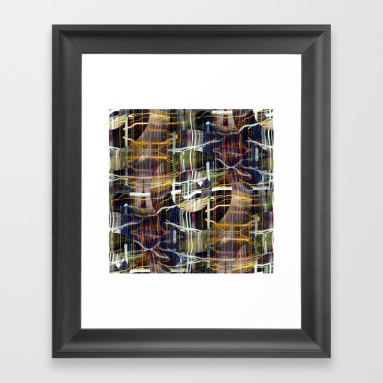 concentrated defense : concentric definition Framed Art Print
