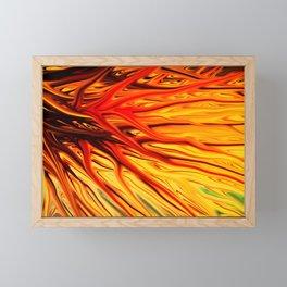 Orange Firethorn by Chris Sparks Framed Mini Art Print