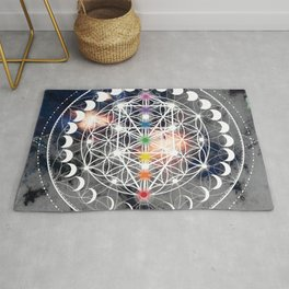 We Are Beings Of Light Rug