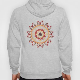 Autumn Folk Mandala Black Hoody