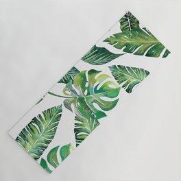 Jungle Leaves, Banana, Monstera #society6 Yoga Mat