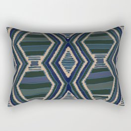 Earth Diamonds Blue Rectangular Pillow