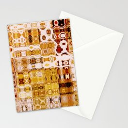 Amber Gypsy Mosaic Abstract  Stationery Cards