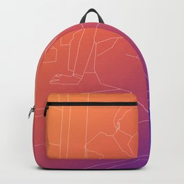 polygon lines girl Backpack