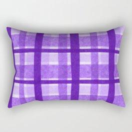 Tissue Paper Plaid - Purple Rectangular Pillow