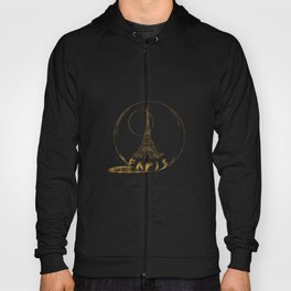 Golden Paris . Eiffel tower . Art Hoody