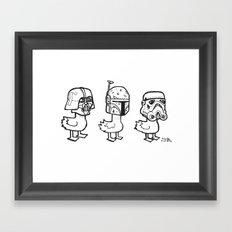 Star Wars Ducks  Framed Art Print
