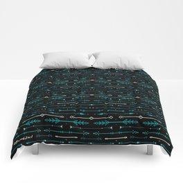 Scandi-Sticks A - Horizontal - Blues Comforters